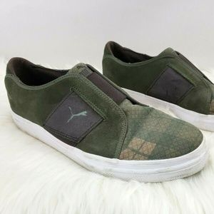 Puma Green Suede Slip On Sneakers Size 10